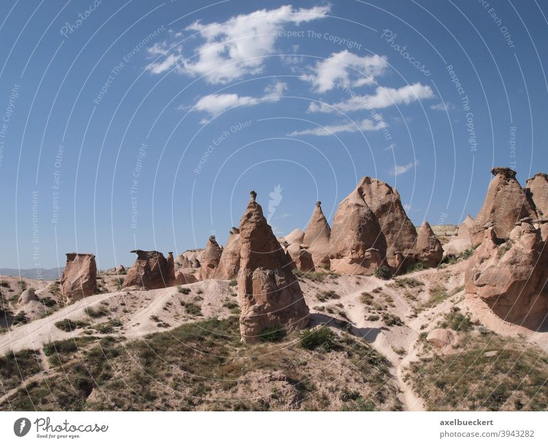 bizarre rock formations called fairy chimneys in Cappadocia, Turkey cappadocia fairy fireplaces World heritage Miracle of Nature Europe voyage Tourism Anatolia