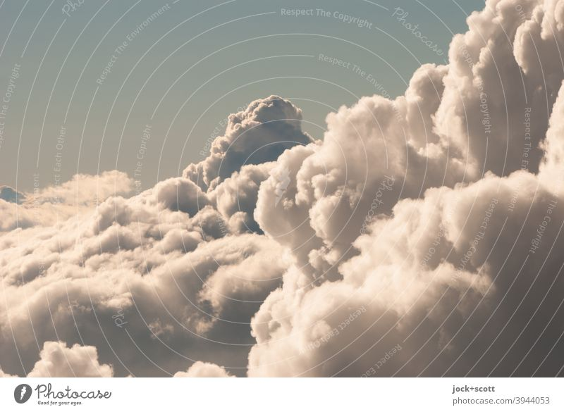 Only freedom and beautiful weather above the clouds Beautiful weather Air Inspiration Sky only Abstract Shadow Silhouette Sunlight Troposhere Cloud formation