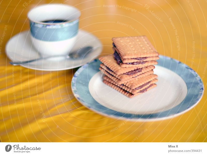 Retro Cold Dog* Food Cake Chocolate Nutrition Breakfast To have a coffee Beverage Hot drink Coffee Delicious Sweet Cold dog Baked goods Butter cookie Cookie