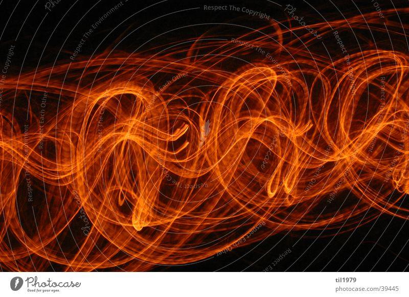 Fire1 Lamp Long exposure Black Living or residing Movement Blaze Orange Blur