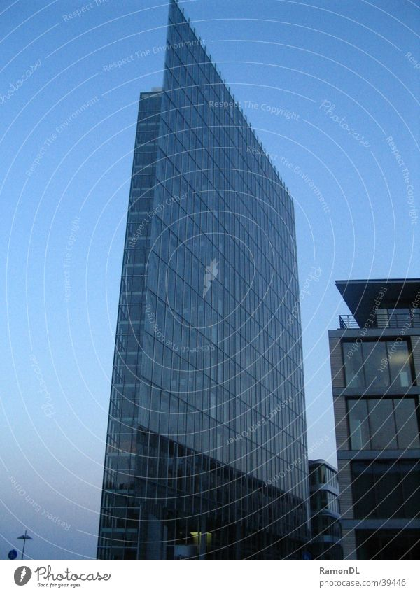 glass building Office building Stuttgart High-rise House (Residential Structure) Architecture Modern