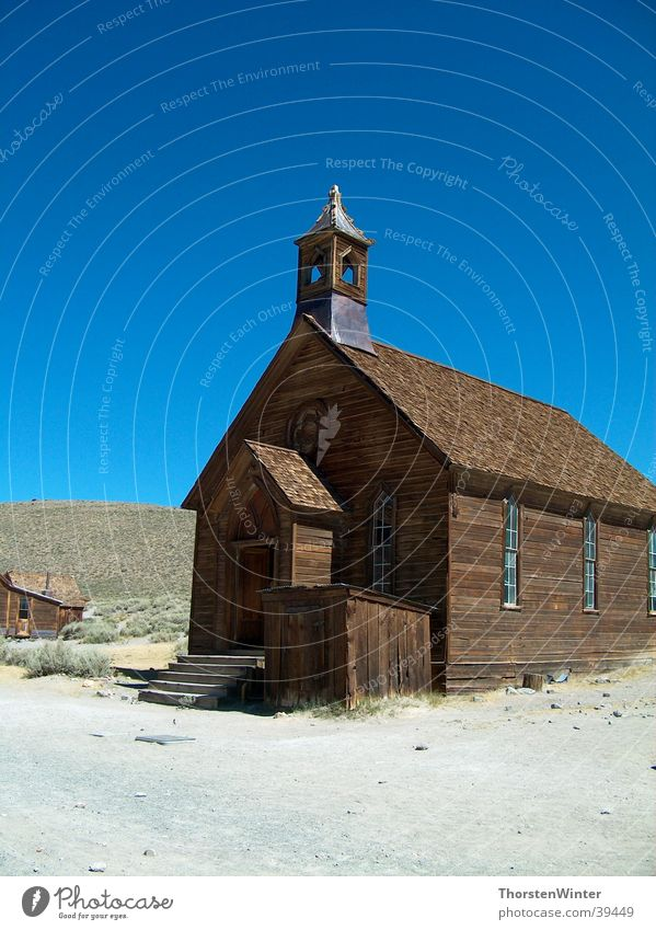 House (Residential Structure) Religion and faith USA Historic California Ghost town Mono Lake