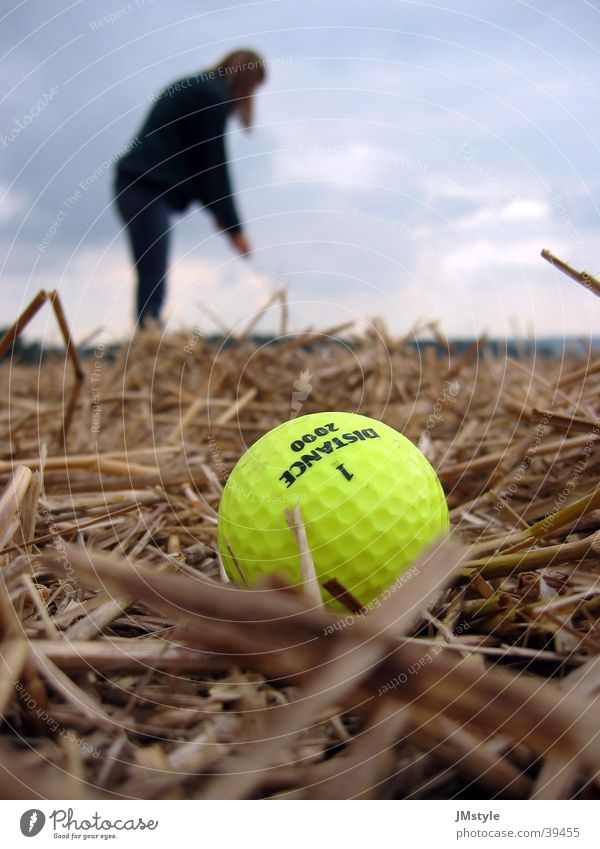 Human being Nature Sports Field Golf Neon light Straw Golf ball
