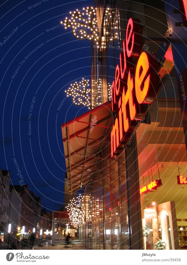 New Center Jena Night Town Building Architecture Neue Mitte Christmas & Advent Lighting