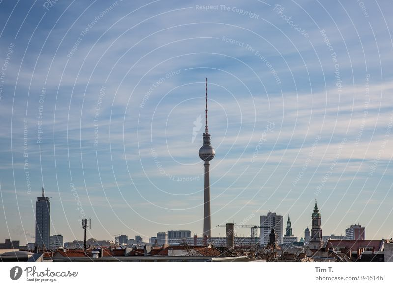 Skyline Berlin tv tower Television tower Berlin TV Tower Landmark Alexanderplatz Architecture Capital city Tourist Attraction Downtown Downtown Berlin