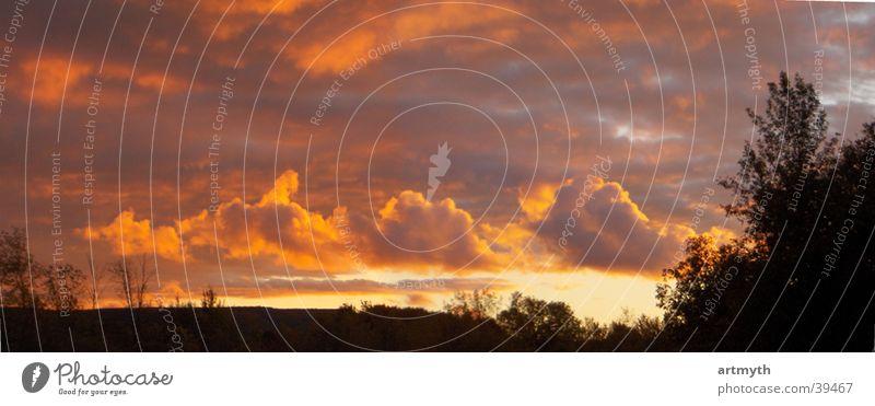 rmanFire Sky Clouds Horizon Sunset Landscape Mountain escarpment