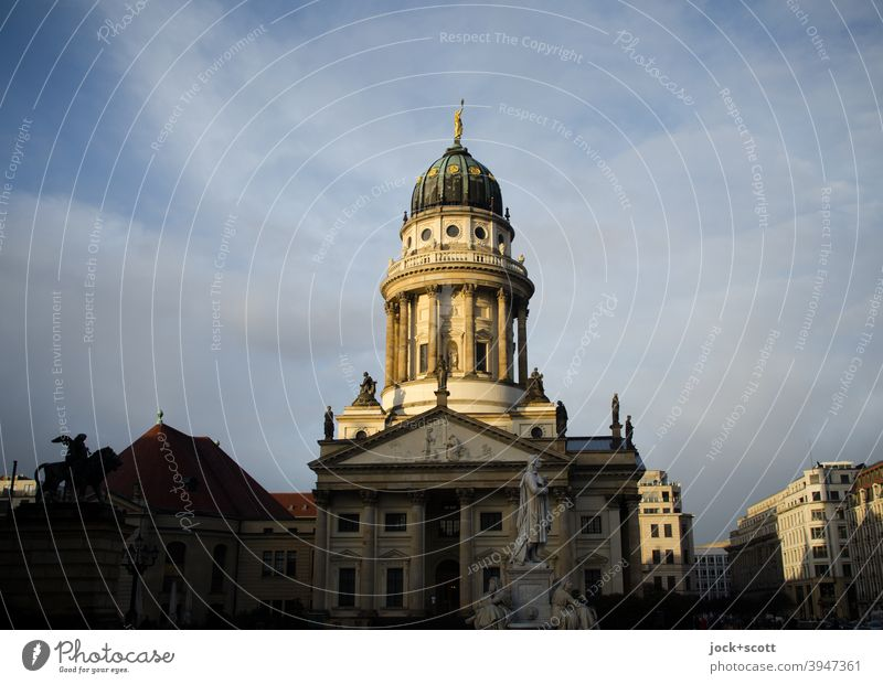 Gendarmenmarkt Architecture Dusk Sunlight Historic Classicism Elegant Luxury Berlin Downtown Berlin Tourist Attraction Places City centre french cathedral