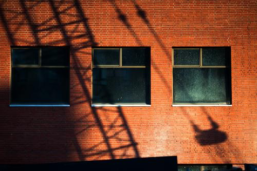 Shadow from construction crane on a facade Architecture Berlin Office city Germany House (Residential Structure) downtown Middle Modern New building