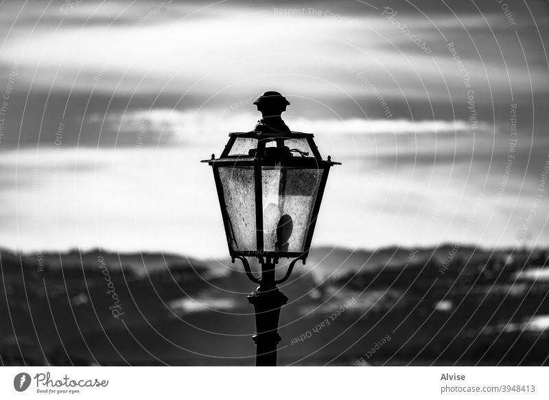 close up of street lamp old light urban city lantern retro vintage architecture isolated design background antique iron streetlight town classic white lamppost