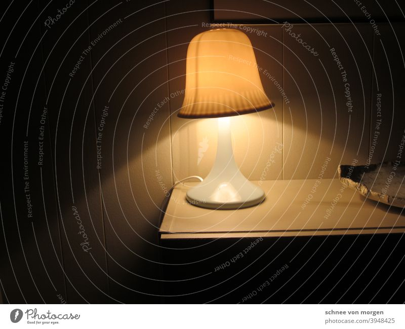 cone of light Light Bedroom Lamp Interior shot Room Interior design Furniture Deserted Day Bedside table Decoration Esthetic White Flat (apartment) Colour photo