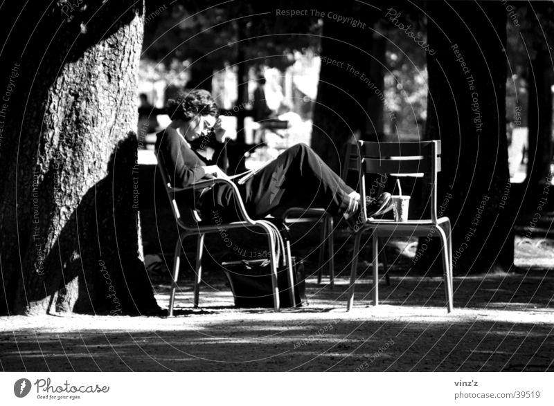 Woman Sun Park Reading Paris France