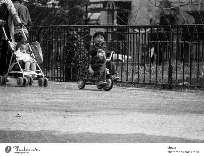 Child Man Park Asia Paris Tricycle Jardin des Plantes