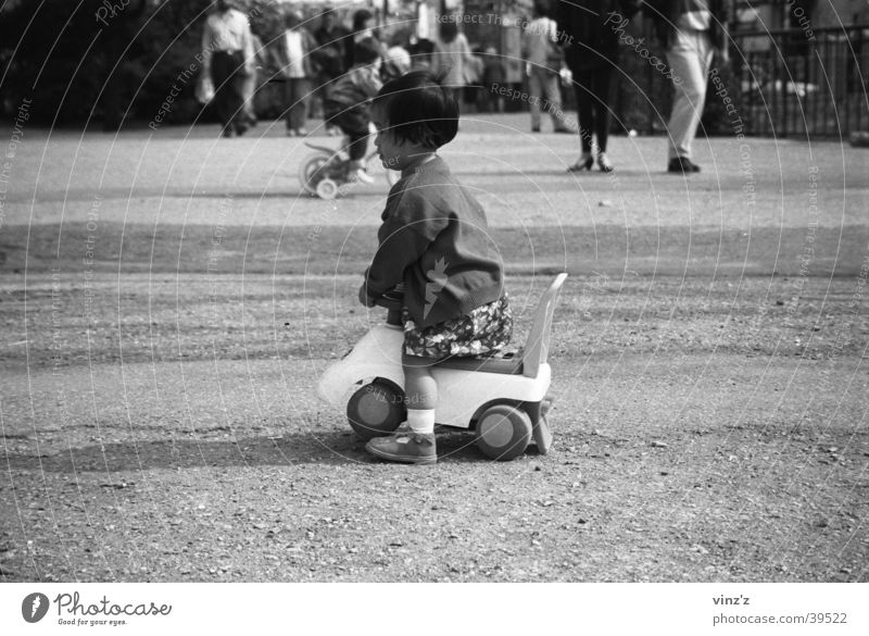 Child in the Parc du Luxembourg Park Girl Toys Expectation Playing Wait