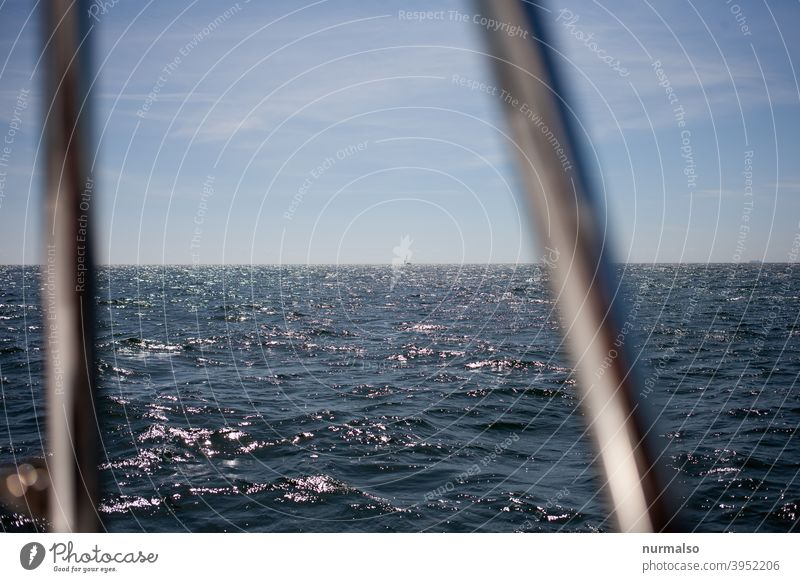 Looking out Ocean Baltic Sea sailing.horizon wide Freedom seafaring primal lum cruise sea fence rail plncken Sports Regatta Sailboat Summer Warmth Naked Sex