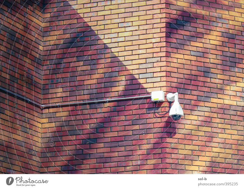 NCH | brickwork Work and employment Workplace Building Architecture Wall (barrier) Wall (building) Watchfulness Fear Surveillance Surveillance camera Brick