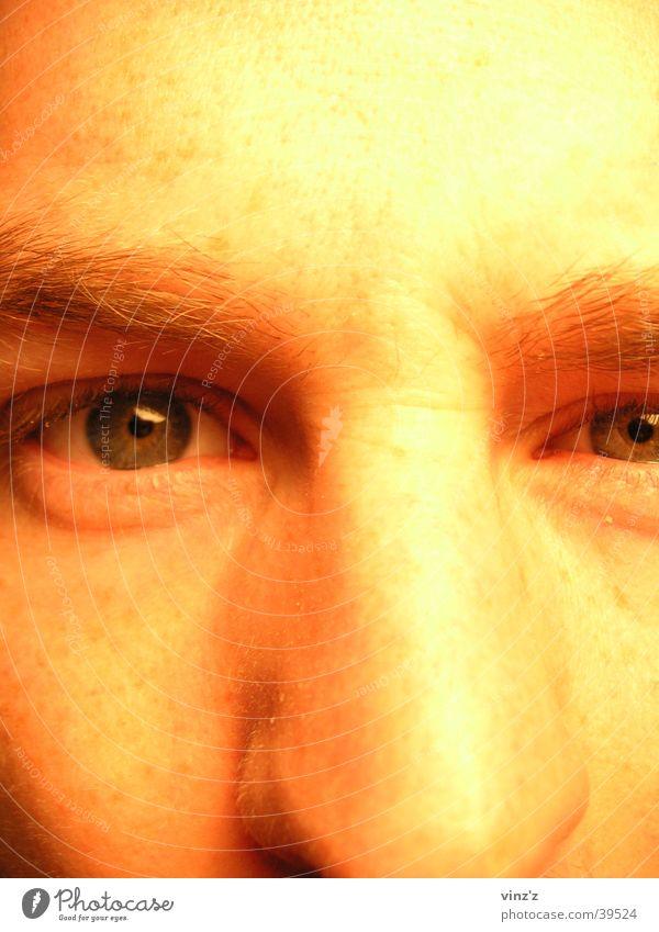 Man Face Eyes Nose Near Eyebrow