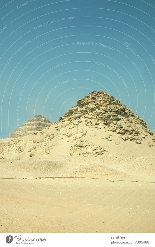 Construction material. Pretty old. Wall (barrier) Wall (building) Old Pyramid Egypt Old times Stairs Colour photo