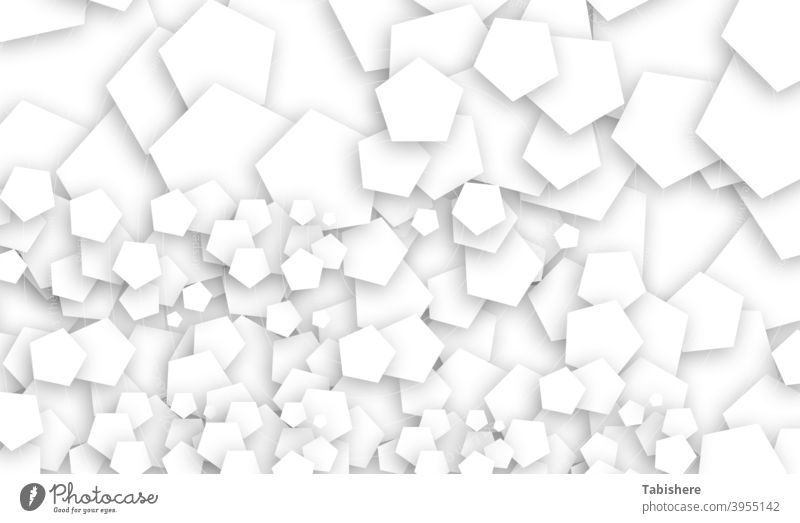 Pentagon fractal design stock photo Pentagon - Shape, Abstract, Backgrounds, Black And White, Fractal Geometric Shape At The Edge Of Black Background Chance