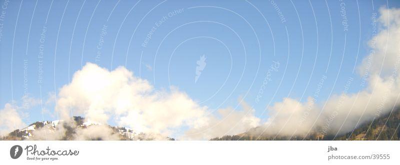 Beautiful Sky Sun Blue Clouds Mountain Saanenland Gstaad
