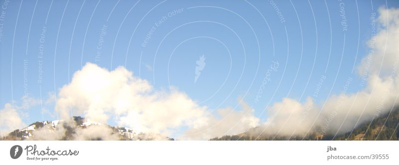 cloudy sky Clouds Beautiful Saanenland Gstaad Mountain Sky Blue Sun