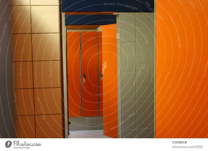 Room Orange Door Perspective Seventies
