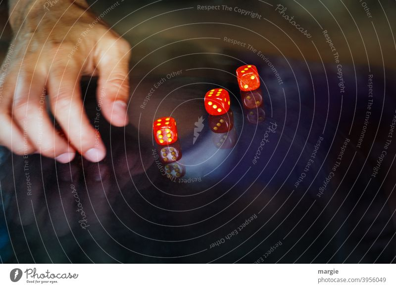 Recommendation| roll at least a six! cubes Fingers game Game of chance Happy Throw dice Success Digits and numbers Compulsive gambling Coincidence Crap game