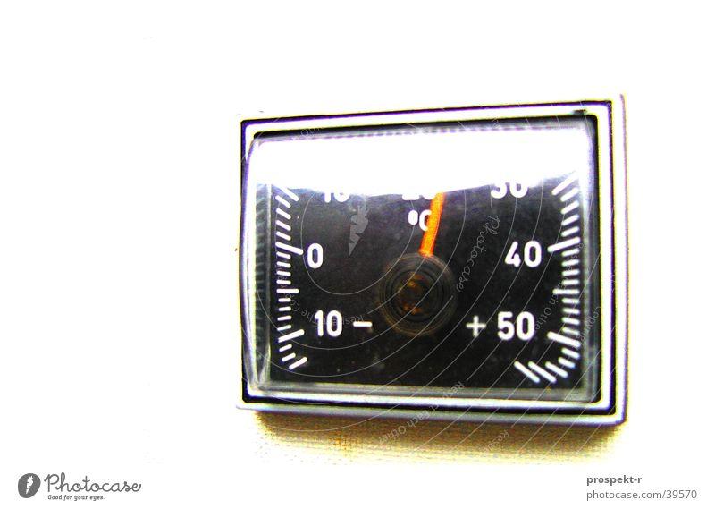 White Black Car 30 Display 50 10 20 Degrees Celsius 40