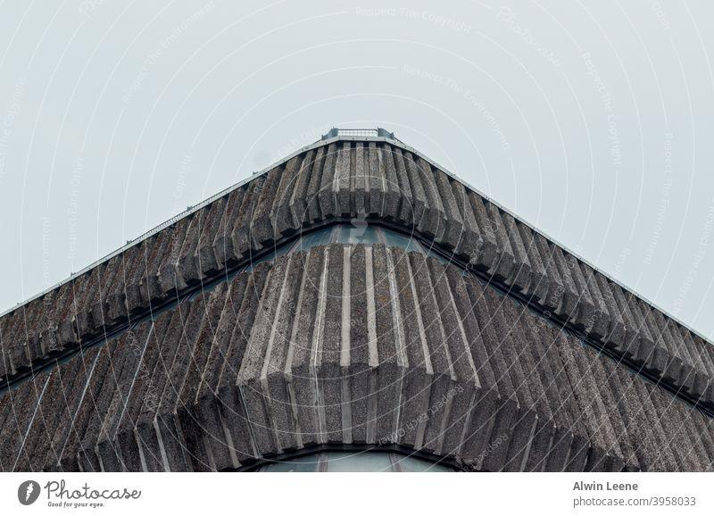 Brutalist building Brutalism brutalist Building Architecture Concrete Gray Symmetry cloudy