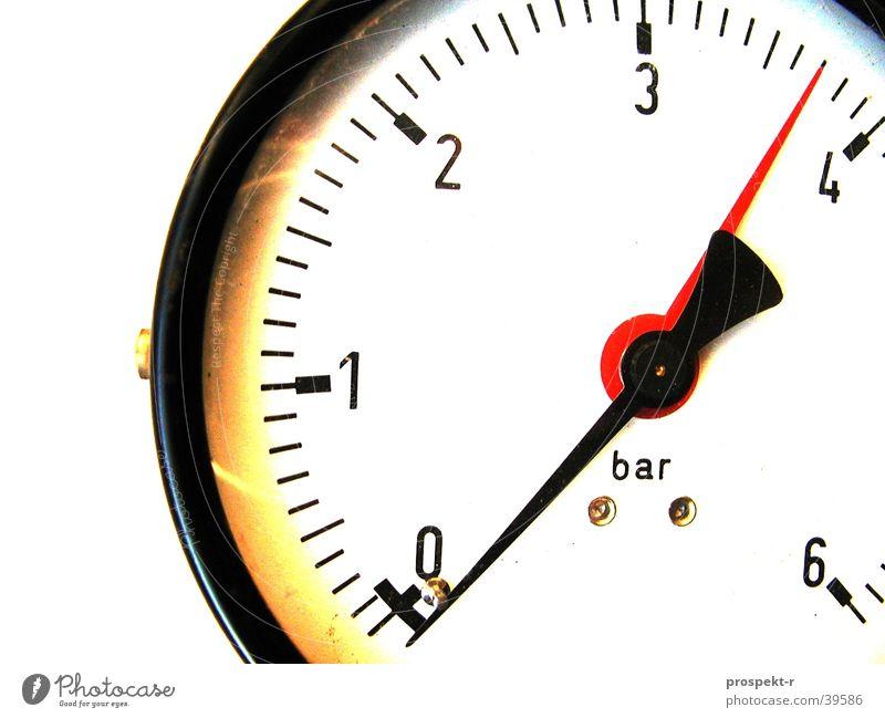in cash Bar Pressure gauge Measuring instrument Round Data display Black Red White High pressure Industry Fittings