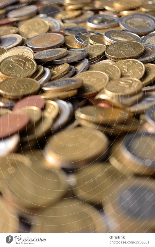 Coins Euro shallow depth of field coin Cent Money Luxury Poverty zaster Coal Financial Industry Loose change Shopping Economy corona Environment Sustainability