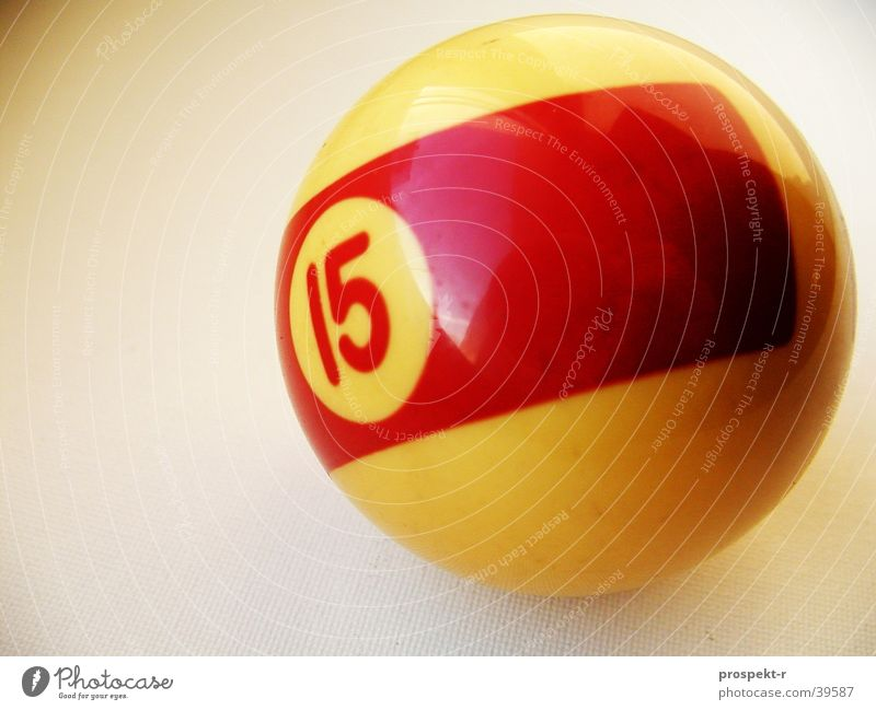 Leisure and hobbies Digits and numbers Sphere Pool (game) 15 Ivory