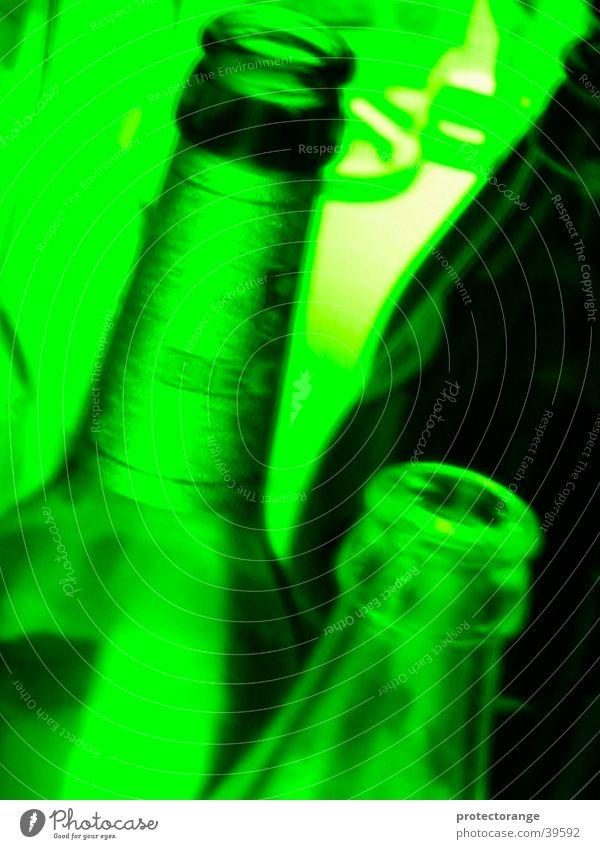 funky bottle neck Green Club Light Neck of a bottle Going Long exposure Bottle