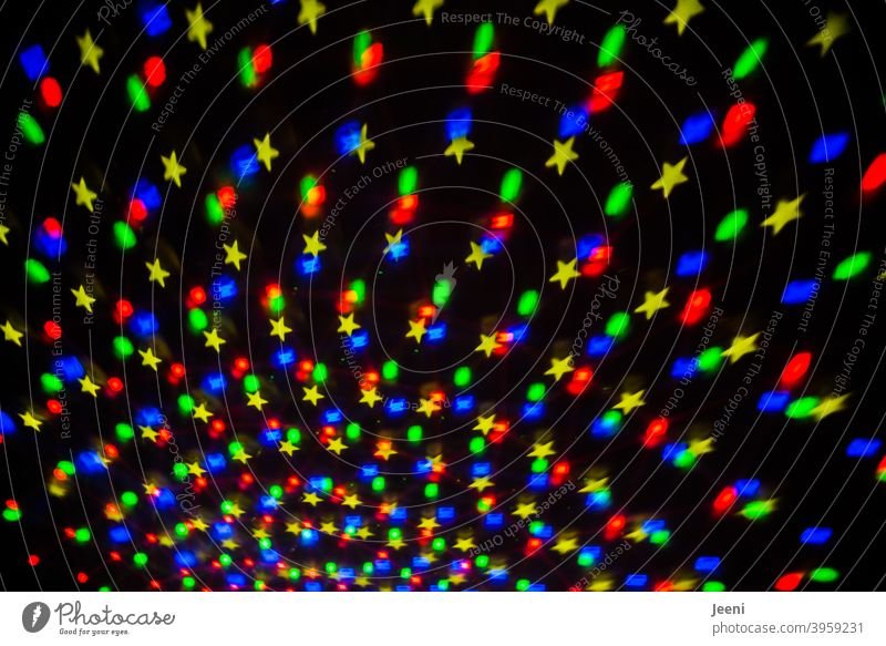 Finally party again | Colourful light effects | Lightshow Disco Disco ball discolights Multicoloured multicoloured background Pattern Structures and shapes