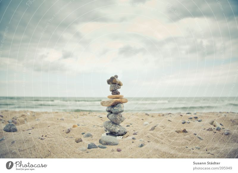 I Elements Sand Clouds Waves Coast Beach Baltic Sea Vacation & Travel Freedom Tower Towering Sandcastle Vacation good wishes Stony Stone Cairn Hold Strong