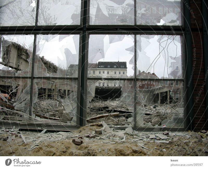 Window Architecture Hamburg Vantage point Destruction Dismantling Shard Building rubble Brutal