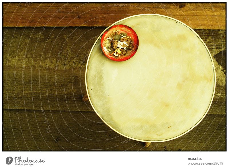 balcony table Round Ashtray Table Balcony Afternoon Obscure Circle Bird's-eye view Smoking