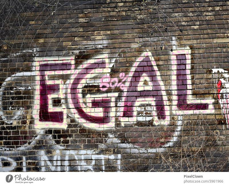 graffiti Graffiti Wall (building) Exterior shot Street art Youth culture Daub Facade Characters Subculture Wall (barrier) Word Letters (alphabet) no matter