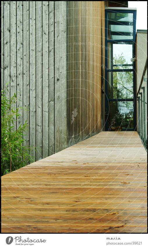 House (Residential Structure) Wood Architecture Glass Perspective Entrance