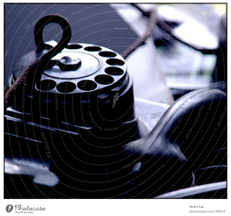 Phone Telephone Rotary dial Receiver Fill Things Cable