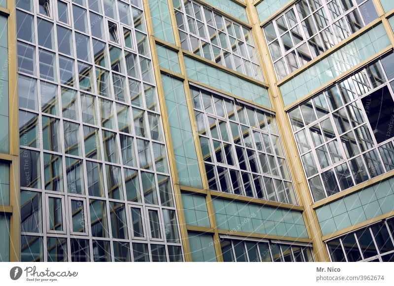 Administration building House (Residential Structure) Building Architecture Window Glas facade Facade Glass Reflection Office building Structures and shapes