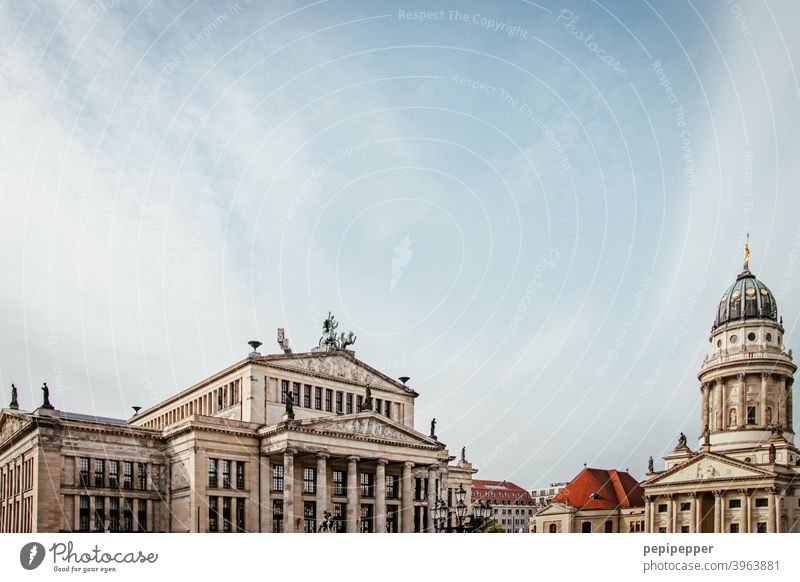 Berlin Opera with Berlin Cathedral Downtown Berlin Dome Capital city Architecture Tourist Attraction Landmark Town Exterior shot Manmade structures Tourism