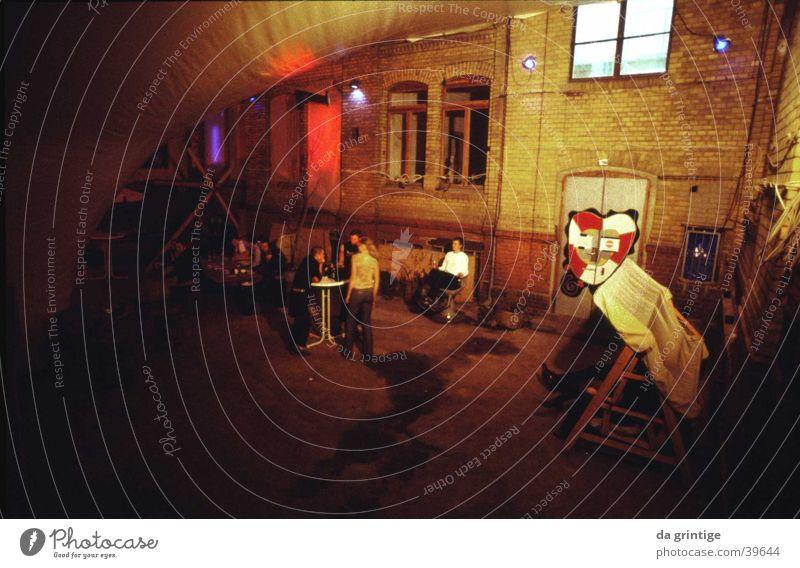Berlin Underground Night life Architecture nightclub Interior courtyard