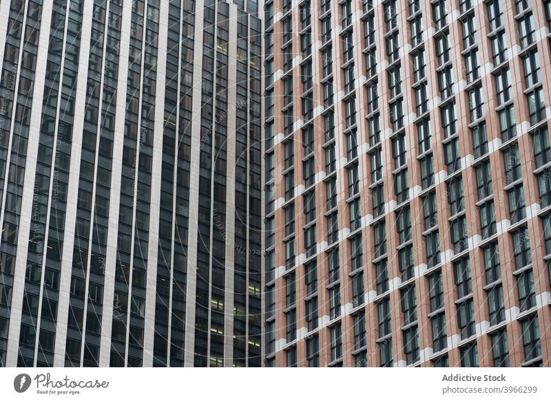 Background of business building facades in the city street architecture skyline window skyscraper metropolis tower city landscape urban office view
