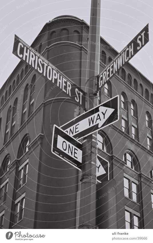 corner in manhattan Americas New York City Greenwich Street sign North America USA had