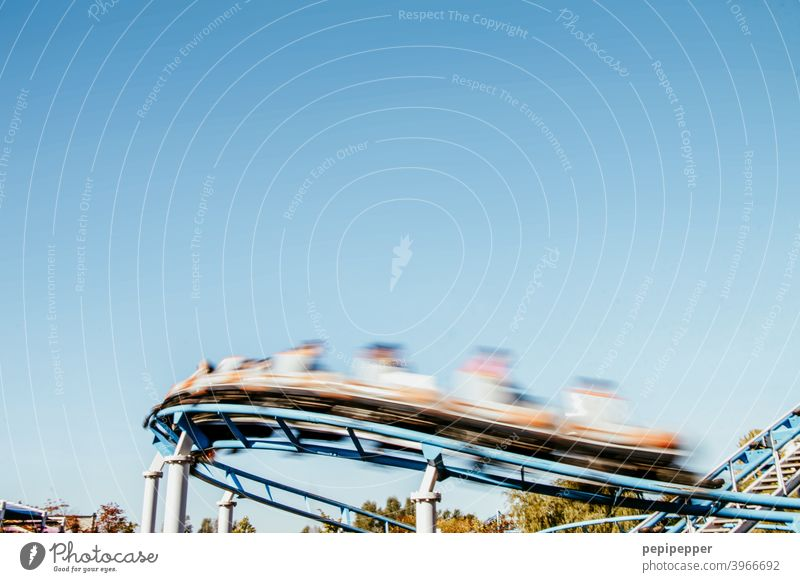 roller coaster Roller coaster roller coaster ride Leisure and hobbies Fairs & Carnivals funfair leisure park amusement parks Joy Driving Exterior shot