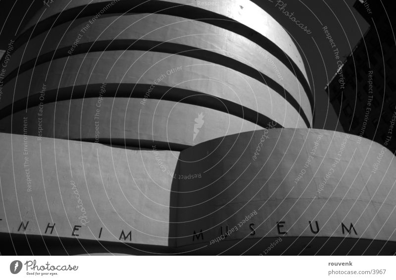 Guggenheim New York City Architecture Museum USA Guggenheim Museum Section of image Partially visible Detail Modern Modern architecture Modern art
