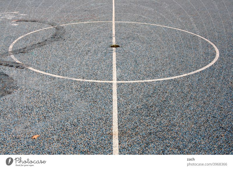 sports field monotonous White Concrete Gray Basketball Basketball arena Sports Sporting grounds soccer field Playing Ball sports Leisure and hobbies