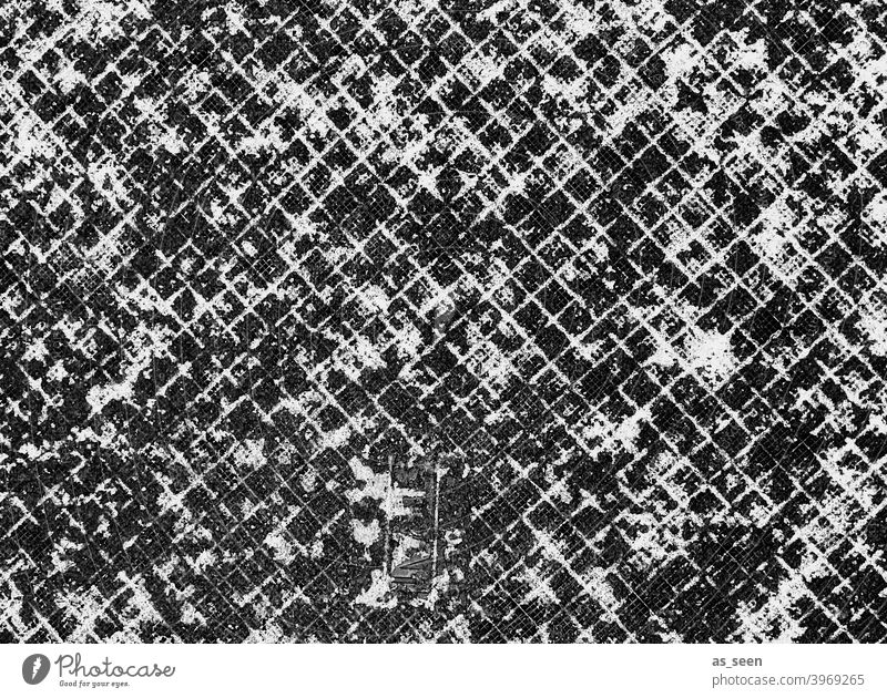 Remnants of snow on path Snow snow residue Pattern graphic graphically Structures and forms squares small box Black and white photography White off Ground
