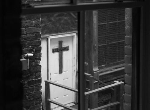 Cross Black & white photo cross Christianity Christian cross Catholicism Window Religion and faith Symbols and metaphors Crucifix Belief Death Spirituality