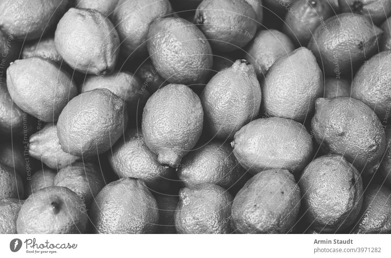 vintage black and white shot of a pile of lemons monochrome fruit healthy fresh citrus food yellow freshness raw ripe vitamin background organic juicy diet